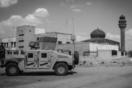 A tank on an Iraqi street.