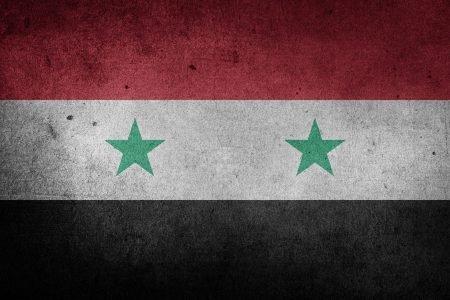 The Syrian flag.