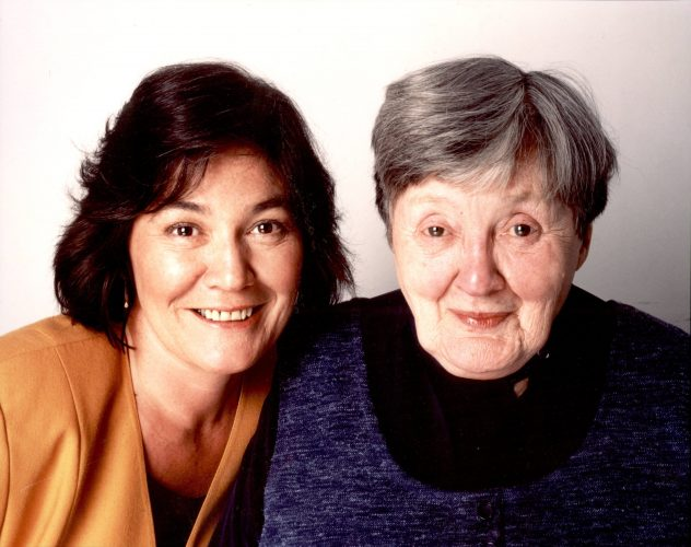 Clare with her mother, Joan Short.