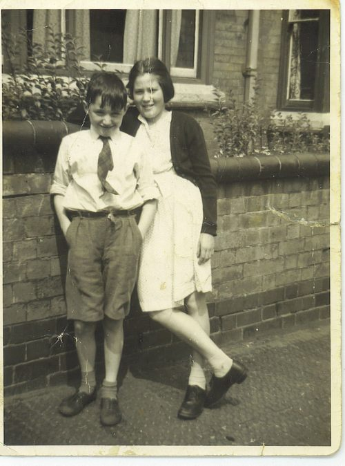 Clare with her Brother, Kevin Short circa 1955.