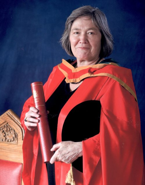 Clare Short receiving Honorary Degree at the University of Ulster, 2009.