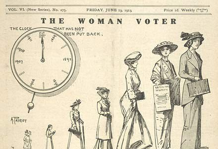 Old Votes for Women poster.