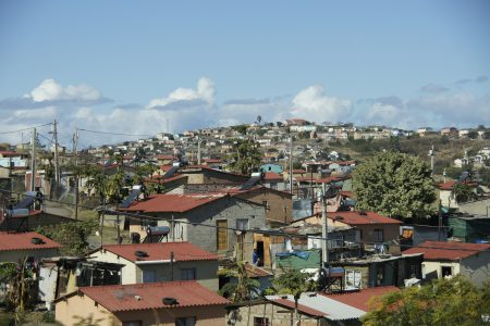 A built up low-rise city in the developing world.