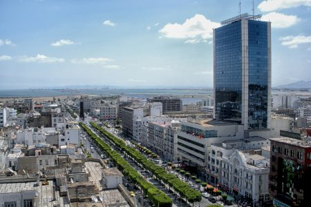 Aerial view of Tunis, Tunisia
